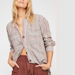 Free People | Striped Pocket Button Down